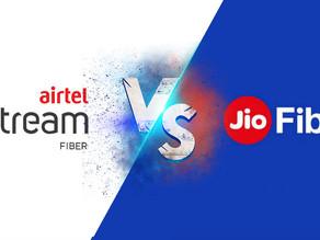 Reliance Jio Fiber vs Airtel Xstream  updated plan