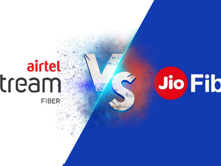 Reliance Jio Fiber vs Airtel Xstream  updated plan