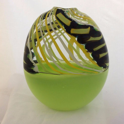 Beautiful glass vase created by Roberta Wyde.