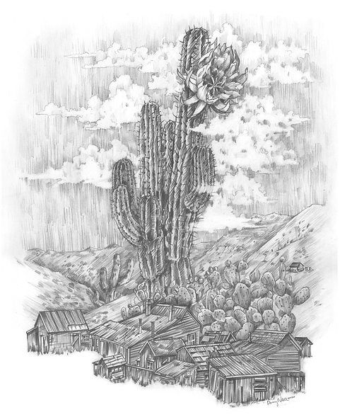 Ghost Town Cacti Print