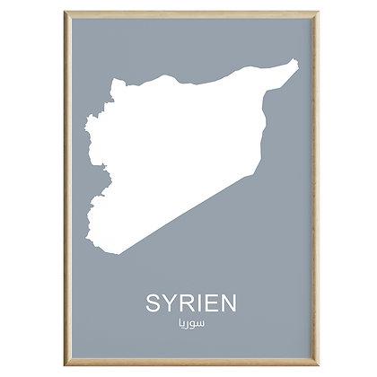 Syrien (Farvet) Plakat