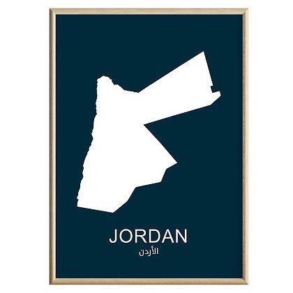 Jordan (Farvet) Plakat