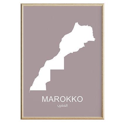 Marokko (Farvet) Plakat