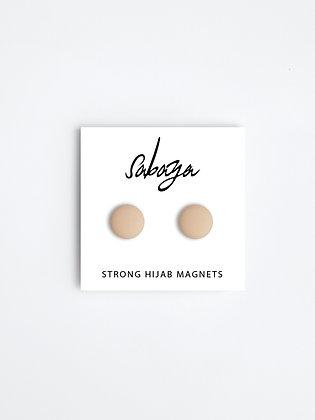 Taupe, Stærke hijab magneter (2 stk)