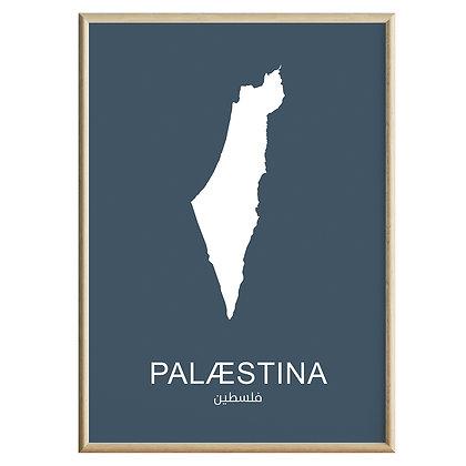 Palæstina (Farvet) Plakat