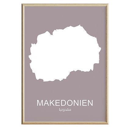 Makedonien (Farvet) Plakat