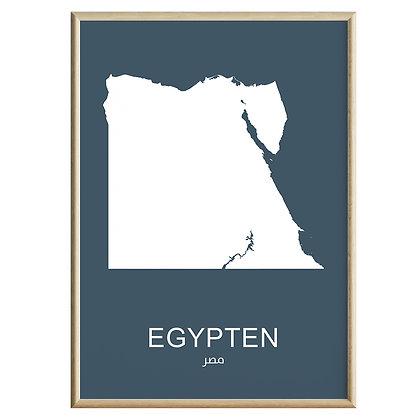 Egypten (Farvet) Plakat