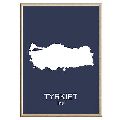 Tyrkiet (Farvet) Plakat