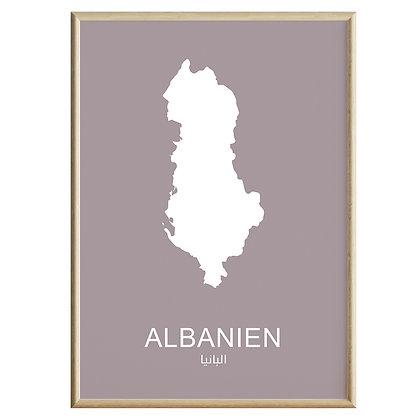 Albanien (Farvet) Plakat
