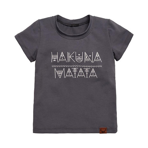 T-shirt long gris Hakuna Matata