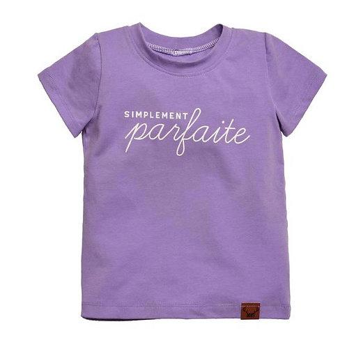 T-shirt long lilas simplement parfaite