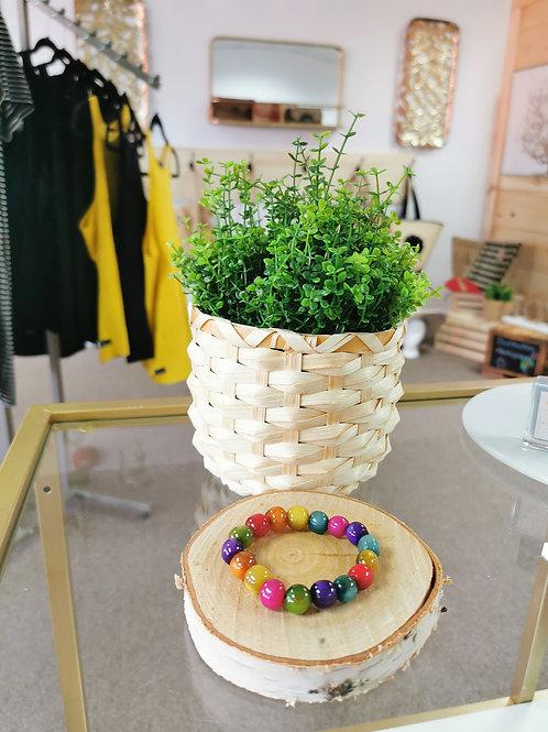 Bracelet boule coloré