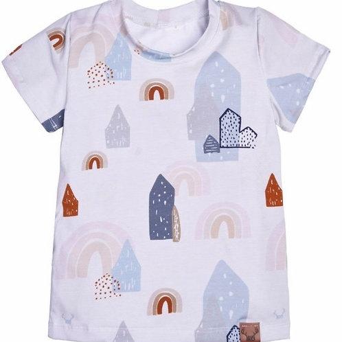 T-Shirt maisons et arcs-en-ciel