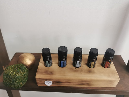 Présentoir en bois huiles 5ml