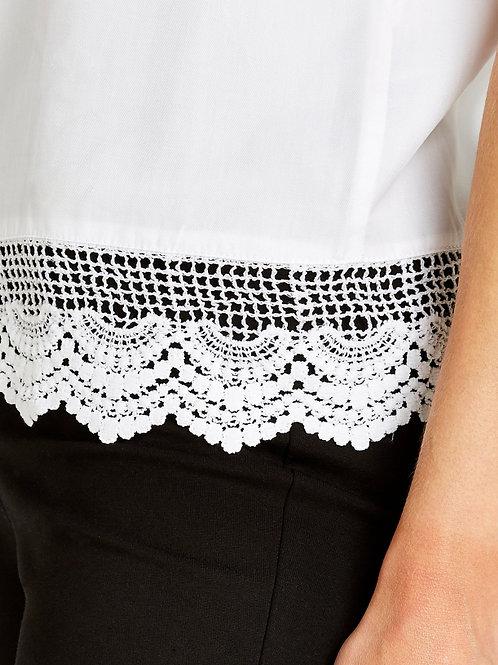 Top blanc avec bordure crochet