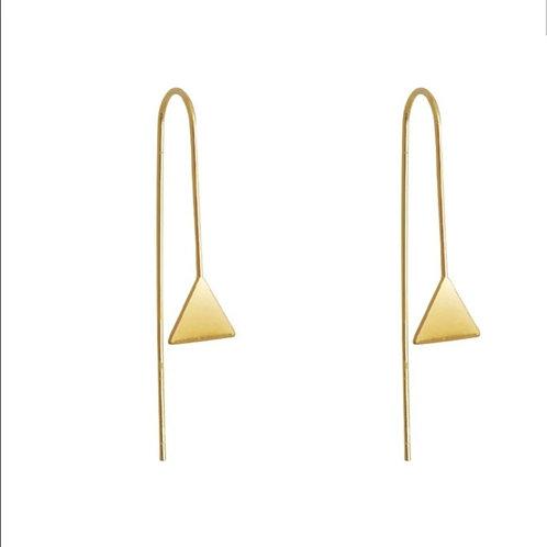 Boucles fils et pendentifs triangles
