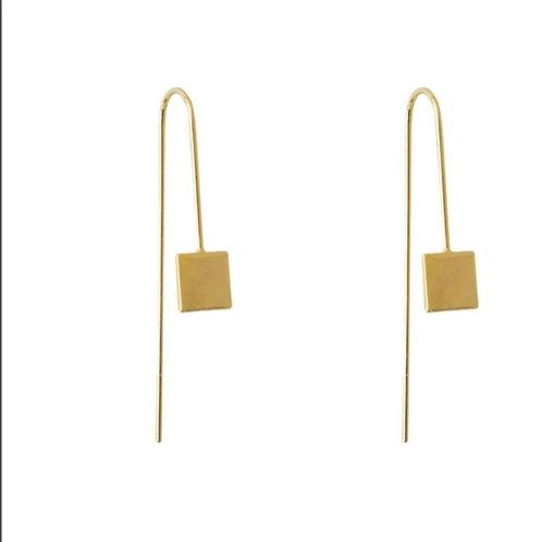 Boucles fils et pendentifs carrés