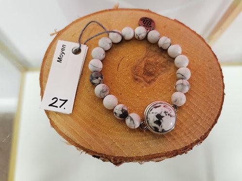 Bracelet extensible pierre semi-precieuses
