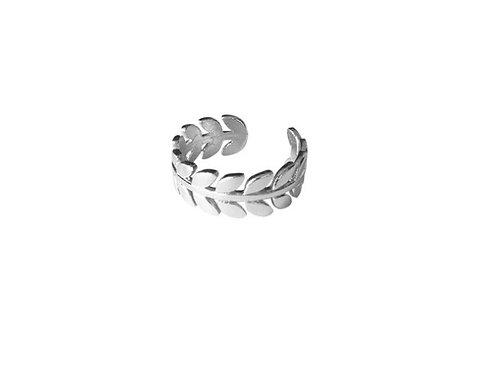 Bague feuilles anneau ajustable
