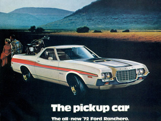 "What's It Worth? 1972 Ford Ranchero GT 429 ..Ford's Beautiful ""Sharkmouth"" Pickup"