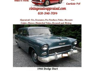 View A Sample Vintage Auto Appraisal Value Report..