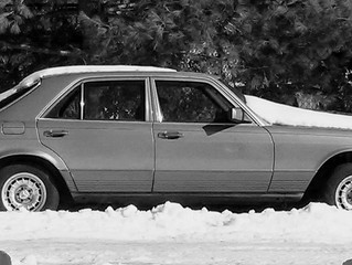 Rolling Art Part 1 ...Beauty Of A Forgotten Benz In The Snow