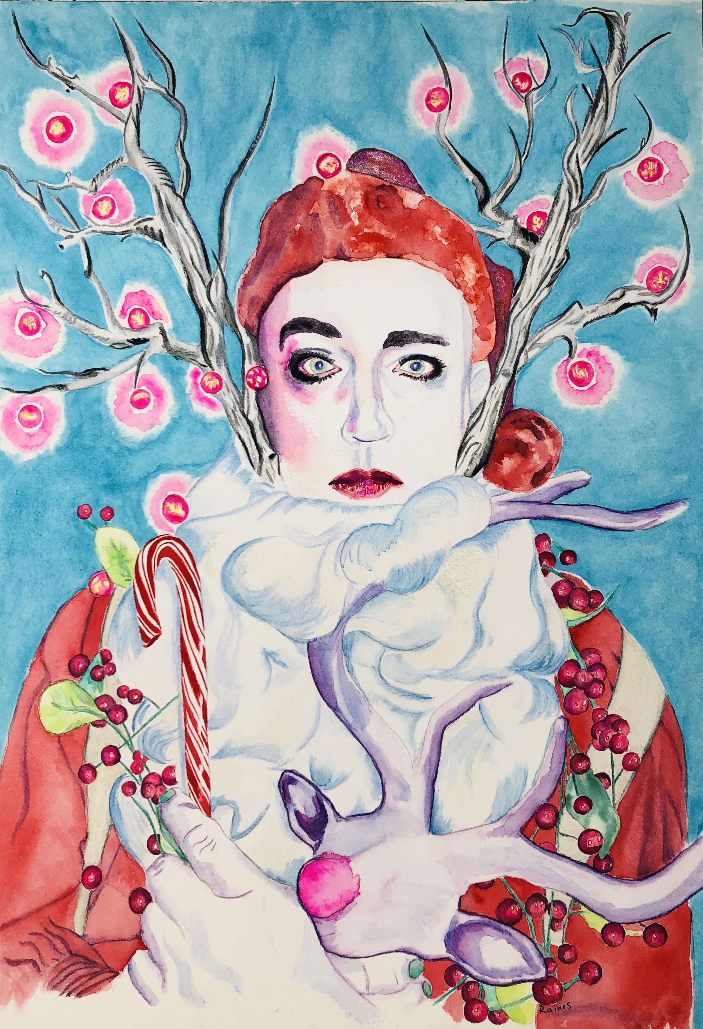 Santa Cabaret - Kellie Raines Art