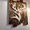 Thumbnail: Tableau Cerf majestueux en bois brûlé