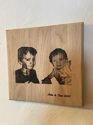 Votre photo gravée sur bois
