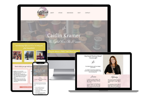 Caitlin Kramer Professional Oboist and Teacher | Website Design + Branding