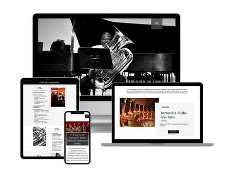 Bernard H. Flythe Professional Tubist and Clinician | Website Design