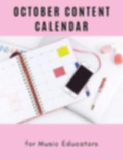 October Content Calendar for Music Educa
