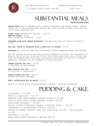Main Meals / Puddings