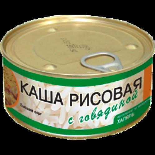 Каша Рисовая с говядиной 325гр.