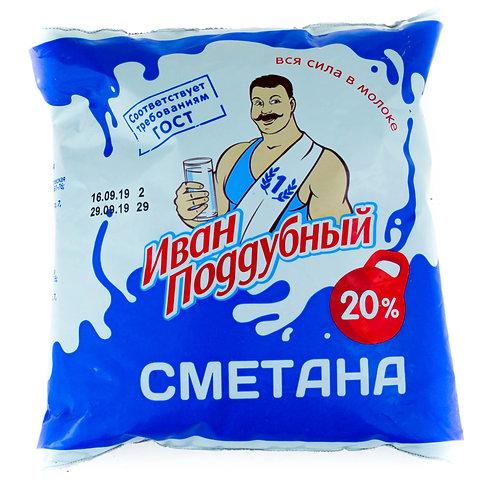 Сметана Иван Поддубный 450гр 20%