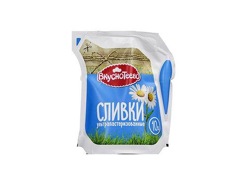 Сливки Вкуснотеево 10% 125гр.