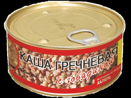 Каша Гречневая с говядиной 325гр.