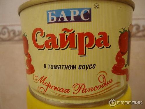 Сайра в томатном соусе 240 гр