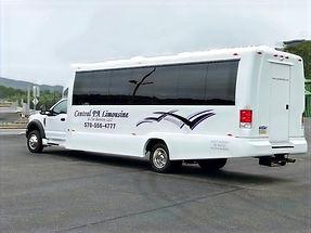 24 passenger limousine party bus