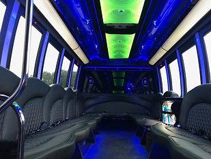 24 pax limo bus interior lighting