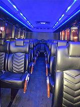 LED lighting shuttle bus interior