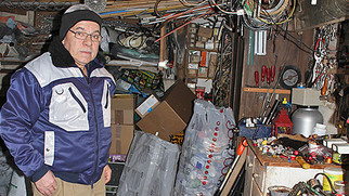 Abfälle sammeln ist sein Hobby