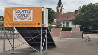 Die Skateanlage ist wieder in Betrieb