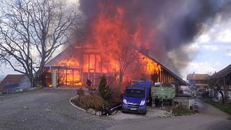 In Mühlau brannte eine Scheune