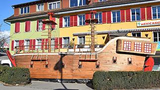 Schiff ahoi am Sinser Einhornkreisel
