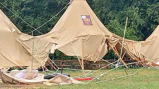 Zeltlager wegen Sturm abgebrochen