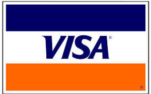 Visa cards accpeted with no additional fee.