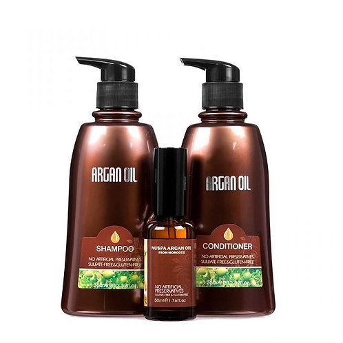 Argan Oil From Morocco 350ml Trio Pack With Serum