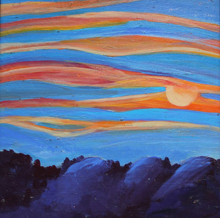 Ribbon Sunset Sky