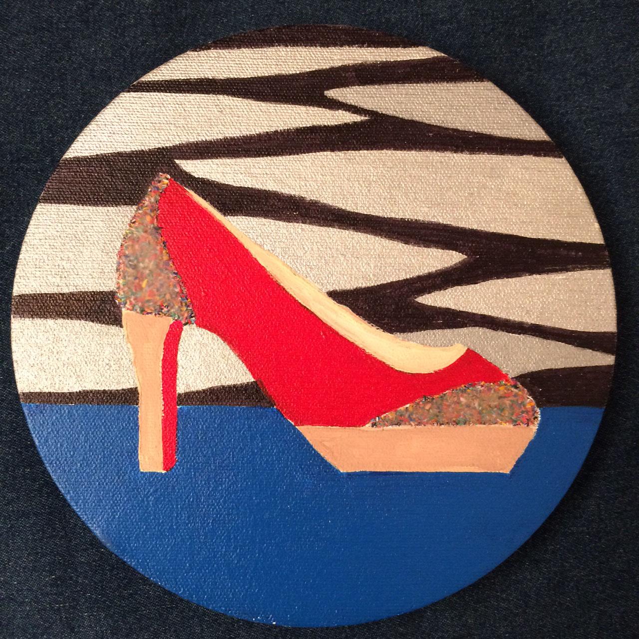 colored pencil heels